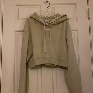 Kith Cropped Hoodie (Neutral tan)